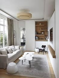 Elegant TV Room With Modern Scandinavian Style Design Bismut Architectes