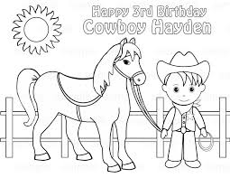 Printable Coloring Pages Cowboys
