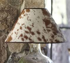 Cowhide Lamp Shades Elegance Painted Rawhide Shade Chandelier 12