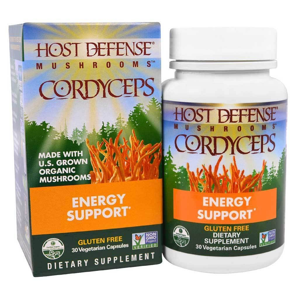 Host Defense Cordyceps Capsules Energy Support - 30 Capsules