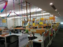 Cubicle Decoration Themes In Office For Diwali by This Is How 11 Companies Celebrated Diwali In The Office Officechai