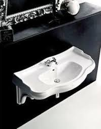 waschtisch retro 100 cm stützen waschbecken nostalgie