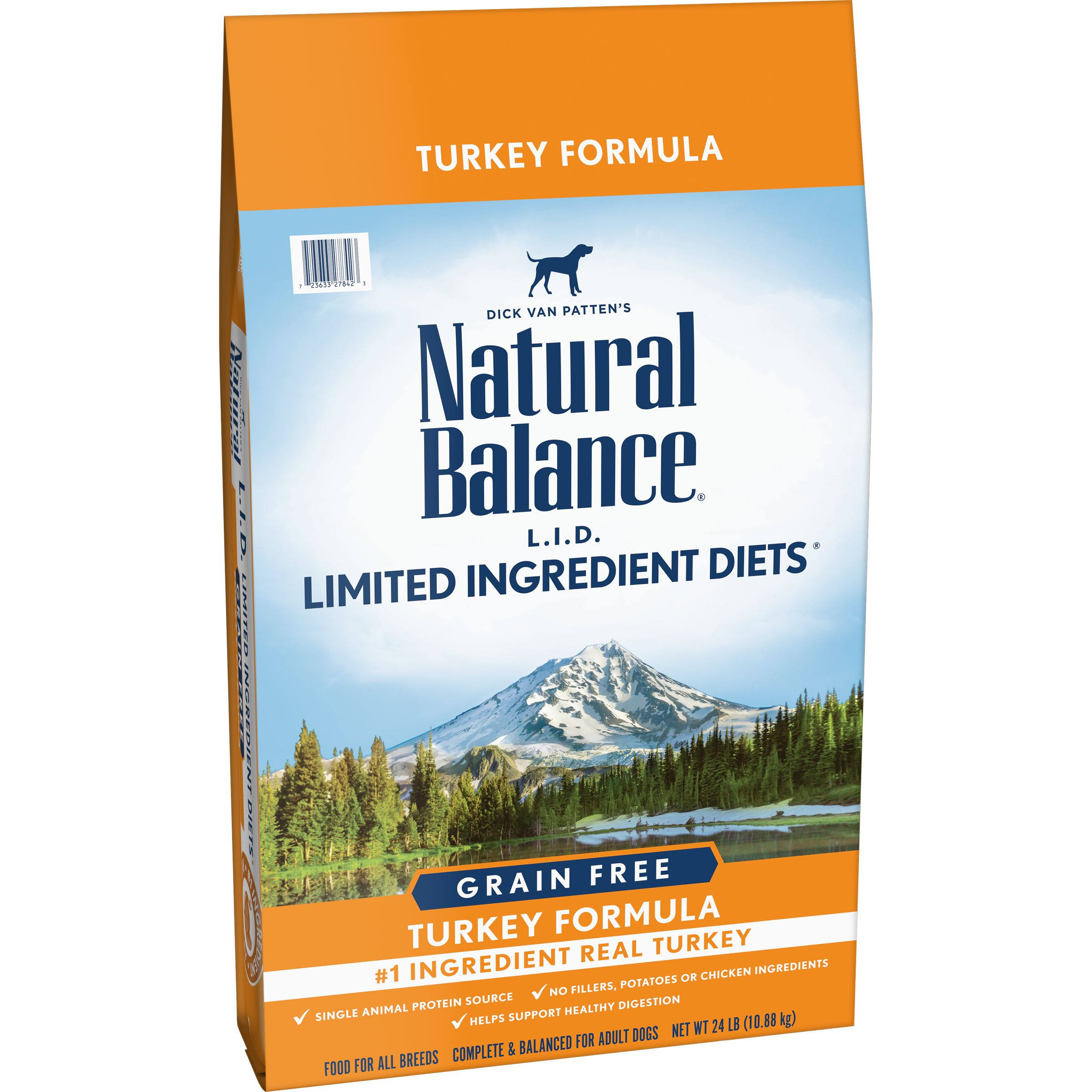 Natural Balance Limited Ingredient Diets High Protein Dry Dog Food - Turkey, 24lbs