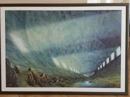 großes wandbild bild mit rahmen wohnzimmer deko hans werner sahm
