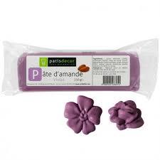 pâte d amande colorée violet 250 g patisdécor cerf dellier