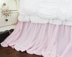 Bed Skirt With Split Corners by Lace Dust Ruffle Etsy