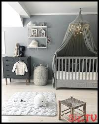stylish baby room gray white baby bed canopy baby bed