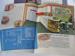 Retro Kitchens Vintage 1940s Kitchen Design Book Appliance Catalogs