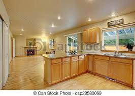 cuisine en dur bois dur classique floor cuisine bois dur image de stock