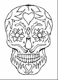 Stunning Printable Adult Coloring Pages Skulls With Adults And