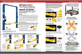 2 Post Car Lift Low Ceiling by Rotary Spo10 Sw Shockwave Symmetrical 2 Post Lift Fast Equipment