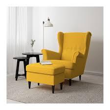 strandmon ottoman skiftebo yellow extra seating ottomans and room