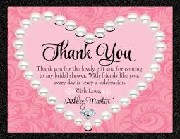 Bridal Shower Thank You Card Wording Couple Wedding Cards