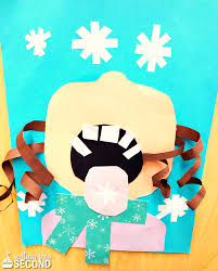 Girl Catching Snowflake Winter Craft For Kids