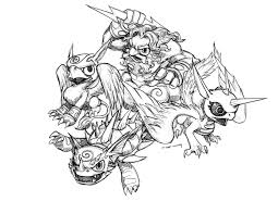Fresh Skylanders Coloring Pages To Print 34 With Additional For Kids Online