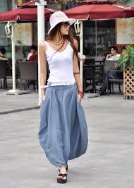 greyblue skirt linen bud long maxi skirt by sophiaclothing