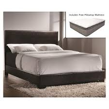 Conner Queen Low Profile Bed with Queen Pillowtop Mattress & Free