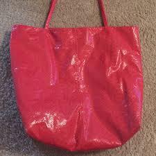 Salmon Color Python Print Shoulder Bag