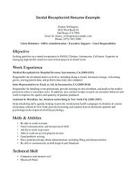 Sample Receptionist Resume Skills