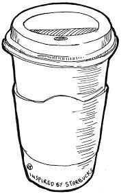 Starbucks Clipart Black And White Lylisima Roosevelt Drawing 1