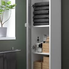 enhet hochschrank mit 4 böden türen weiß grau rahmen 30x32x180 cm