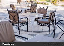 Outdoors Cafe Chairs Tables Hotel — Stock Photo ... Restaurant Fniture In Alaide Tables And Chairs Cafe Fniture Projects Harrows Nz Stackable Caf Widest Range 2 Years Warranty Nextrend Western Fast Food Cafe Chairs Negoating Tables 35x Colourful Gecko Shell Ding Newtown Powys Stock Photo 24 Round Metal Inoutdoor Table Set With Due Bistro Chair Table Brunner Uk Pink Pool Design For Cafes Modern Background