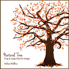 Fall Tree Clipart Clipart Autumn Tree Family Trees Tree Vectors Autumn Clipart Flame Tree Wedding invite Natural Looking Tree from UrbanWillow on