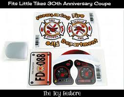 100 Fire Truck Cozy Coupe New Replacement Decals Stickers Fits 30th Anniversary Little Etsy