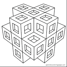 Geometric Shapes Coloring Pages Pdf Books For Adults Spectacular Geometry Printable Free Full Size