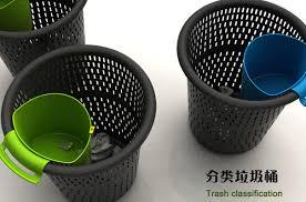 poubelle de bureau tri selectif un godet pour se faciliter le tri sélectif au bureau