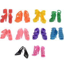 10 Pack Barbie Doll Clothes Party Gown Outfits With Pairs Shoes For
