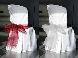 ruban pour noeud de chaise le lot de 2 noeuds de chaise en organza décoration de table bapteme