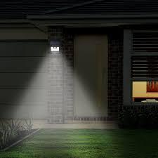 mpowtech solar lights 1 pack led motion sensor wall light bright