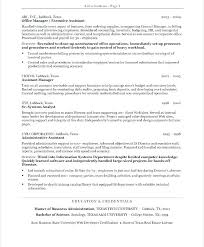 Executive Assistant Resumes Examples Resume Example Administrative Australia