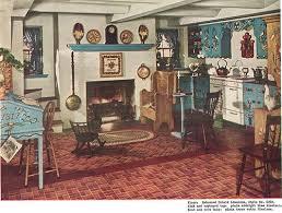 Vintage 1940s Pennsylvania Dutch Kitchen