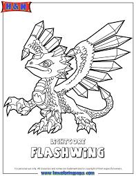 Skylanders Swap Force Flashwing Lightcore Coloring Page