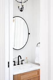 pivot mirror transitional bathroom