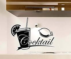 wandtattoo cocktail bar glas küche wand sticker aufkleber