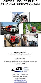 CRITICAL ISSUES IN THE TRUCKING INDUSTRY PDF