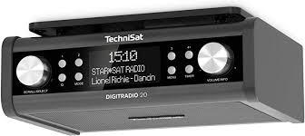 technisat digitradio 20 modernes kompaktes dab küchen badezimmerradio empfangstarkes ukw unterbauradio mit uhr