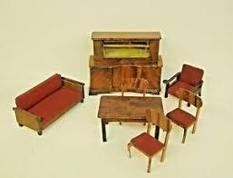 details zu puppenmöbel wohnzimmer 30er jahre puppenstube puppenhaus bufett tisch stühle