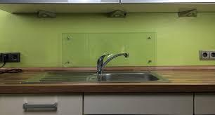 küchenrückwand klarglas mit punkthaltern e