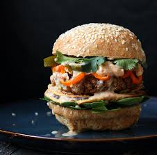 Chipotle Halloween Special 2013 by Red Lentil Cauliflower Burger With Chipotle Habanero Mayo Onion