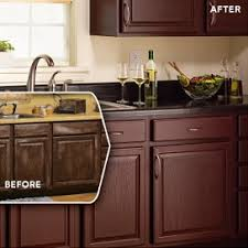 Cabinet Refinishing Kit Before And After by Rust Oleum Cabinet Transformations