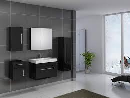 sam design badmöbel set lunar 80 cm in hochglanz schwarz