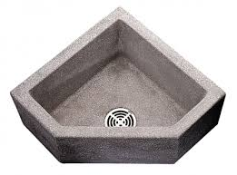 Fiat 24 X 12 Black White Corner Mop Sink 10 Bowl Depth Terrazzo