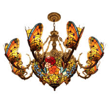 Maskros Pendant Lamp Uk by Discount Creative Tiffany Pendant Light Stained Glass Butterfly