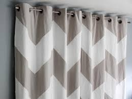 Gray Chevron Curtains Living Room by How To Paint Chevron Curtains How Tos Diy