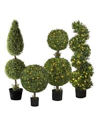 Lighted Spiral Christmas Tree Outdoor by Outdoor Led Boxwood Topiary Balsam Hill