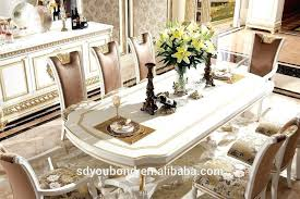 Royal Classic Dining Room Furniture Wooden White Gold Table And Chair Christmas Ideas